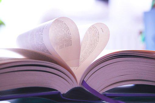Book, Page, Heart, Foliage, Reading