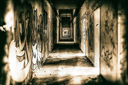 Old, Architecture, Leave, Wall, Nervous, Darkness, Home
