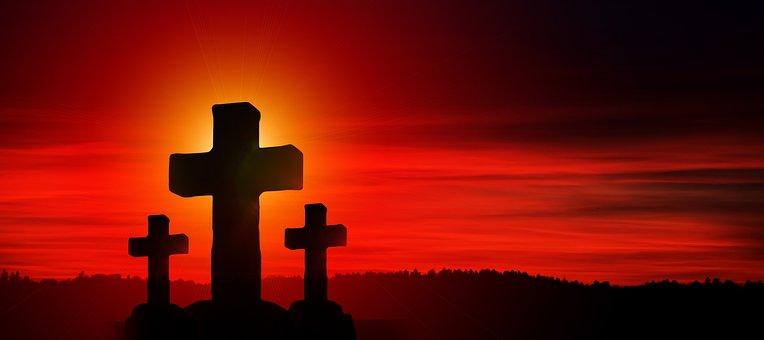 Cross, Christ, Faith, God, Jesus, Clouds, Sun, Light