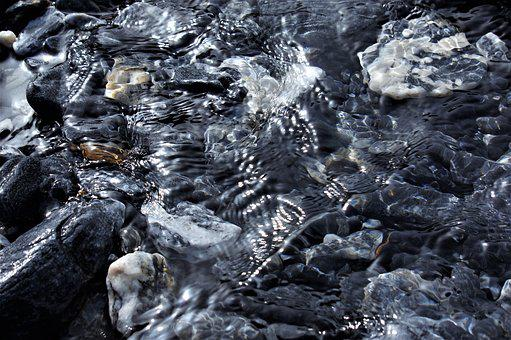 Nature, Rock, Ice, Cold, Waters, Bach, Stones, Light