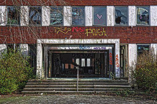 Architecture, Abandoned, Old, Building, Office Building