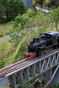 Railroad Track, Transportation System, Train, Track