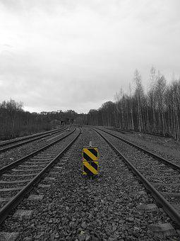Railway, Railway Line, Train, Railway Station, Stones