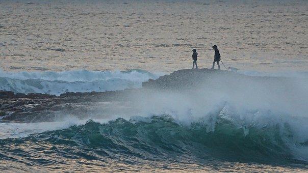 Atlantic Ocean, Rocky Coast, High Tide, Sand'olonne