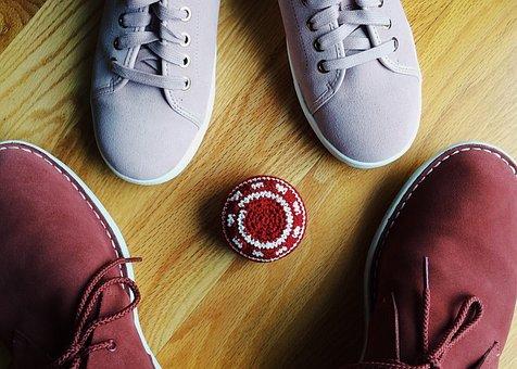 Hackey Sack, Footbag, Shoe, Foot, Footwear, Leather