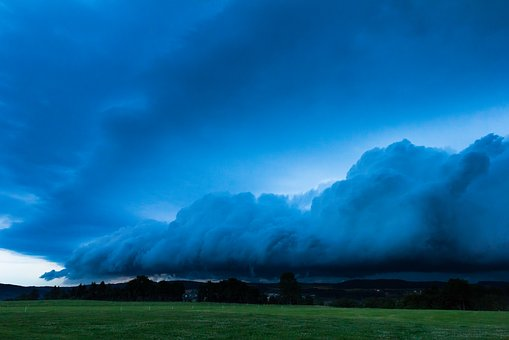 Blue Hour, Squall Line, Thundercloud, Storm Front