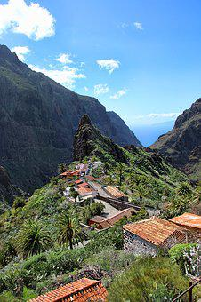 Masca, Gorge, Village, Tenerife, Canary Islands, Nature