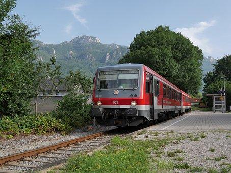 Chiemgau, Train, Chiemgau Railway, Aschau, Prien