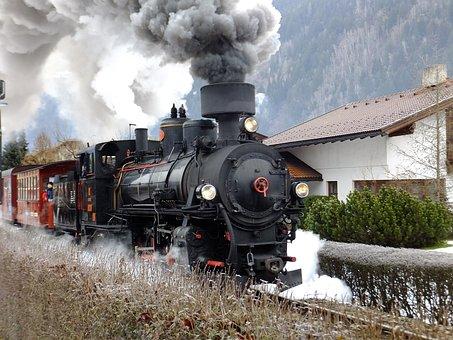 Steam, Train, Railway Line, Railway, Smoke, Locomotive