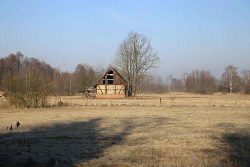 Mati, Barn, Farm, Field, Village, Grass, Meadow, Shed