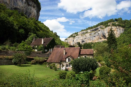 Architecture, Nature, House, Mountain, Jura, France