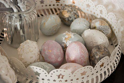 Eating, Easter, Eggs, Holidays, Breakfast, Colored