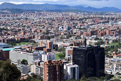 City, Bogotá, Panoramic, Urban, Buildings, Colombia
