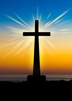 Sunset, Deity, Sky, Cross