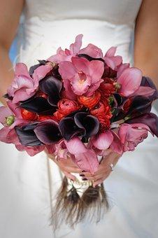 Flower, Beautiful, Romantic, Floral, Bride, Bouquet