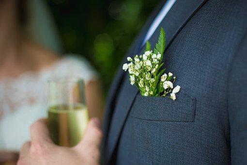 People, Adult, Flower, Wedding, Groom, Bouquet