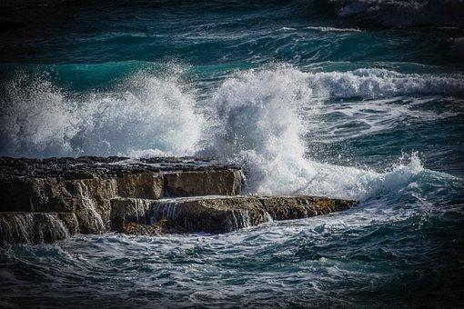 Water, Storm, Surf, Wave, Ocean, Splash, Spray, Foam
