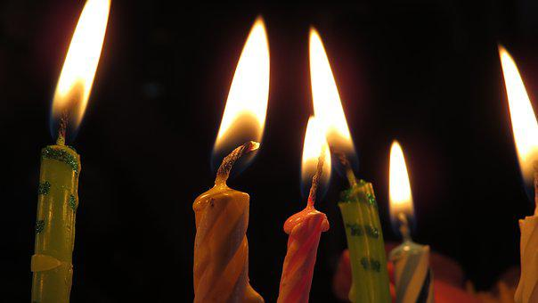 Candles, Candle, Fire, Lights, Six, Background, Nice