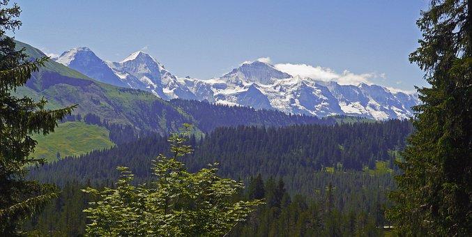 Eiger, Monk, Virgin, Mountain Range, Bernese Oberland