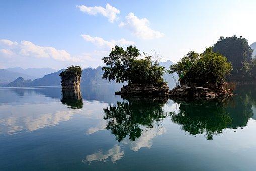 Water, Reflection, Nature, Lake, Sky, Viet Nam, Na Hang