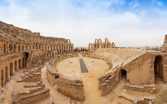 Architecture, Antiquity, Travel, Panorama, Amphitheater