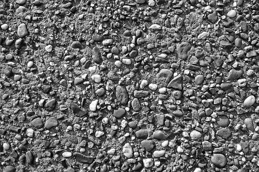 Gravel, Pebble, Stone, Surface, Rough, Material