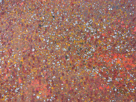 Background, Oxide, Rusty, Lichens, Weather, Abstract