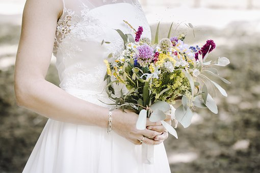Bouquet, Flower, Nature, Bride And Groom, Wedding