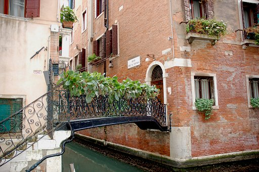 Architecture, House, Town, Street, Window, Venice