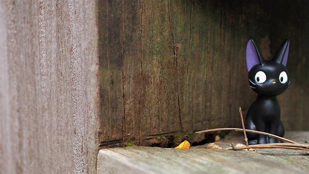 Jiji The Cat, Wood, Wall, Desktop, Wooden, Old, Cat