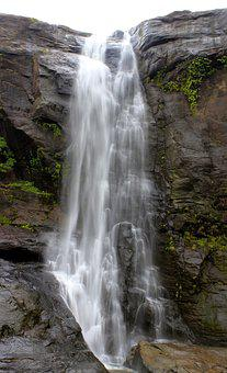 Waterfall, Water, Nature, River, Stream, Athirappilly