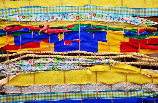 Fabric, Bands, Colorful Ribbons, Textile, Pattern