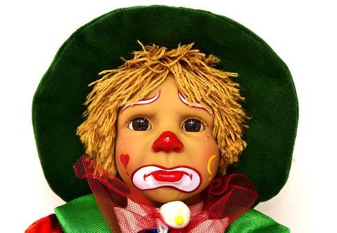 Clown, Doll, Cute, Sad, Children, Colorful, Toys, Funny