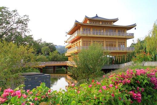 Building, Pavilion, Garden, Pagoda, House