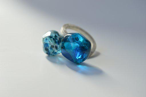 Ring, Glass At The Torch, Glass, Jewelry, Jewelry Glass