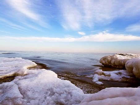 Water, Landscape, Outdoors, Lake, Winter, Beach, Cold