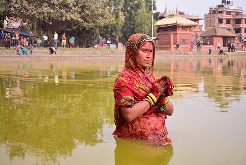 Chhath, Religious, Nepal, Water, People, River