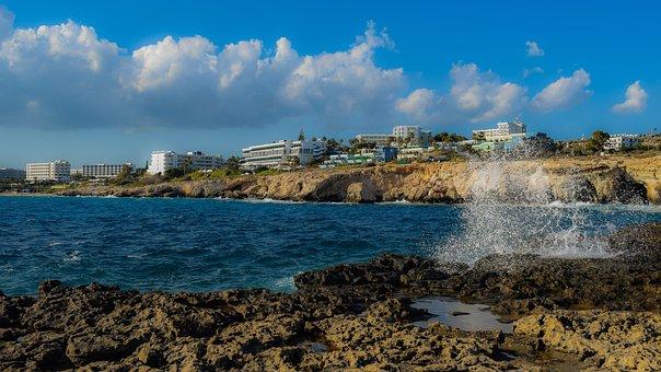 Cyprus, Ayia Napa, Panoramic, Nature, Sea, Travel
