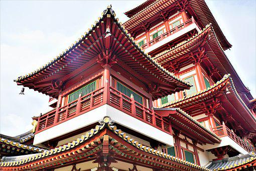 Temple, Pagoda, Roof, Travel, Pavilion, Palace