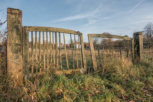 Leinemasch, Laatzen, Fence, Sky, Grass, Nature