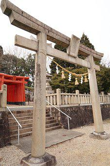 Outdoors, Building, Stone, Shrine, Torii