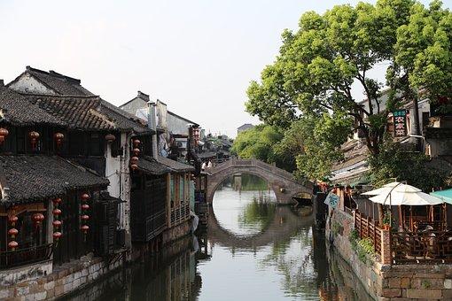 Traditional, Structure, Building, Travel, River, Bridge