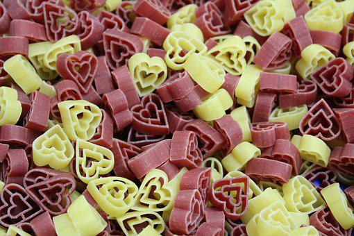 Food, Candy, Refreshment, Sugar, Sweet, Noodles, Hearts