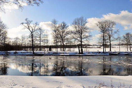 Lagan, Osudden, Värnamo, Sweden, River, Lake, Water