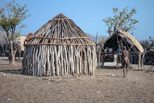 Africa, Himba, House Himba, Waterfall Epupa, City