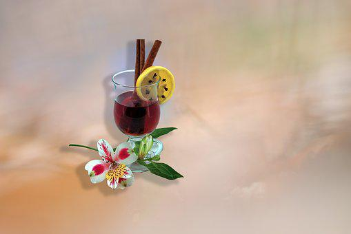 Background, Flower, Still Life, Lemon, Mulled Wine