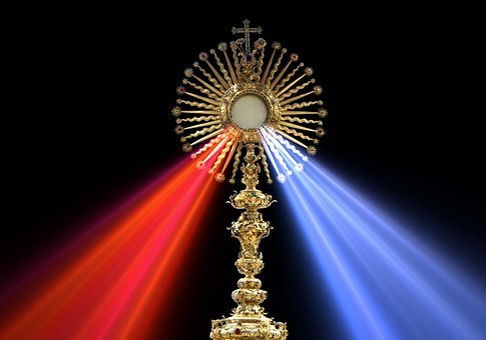 Eucharist, Divine Mercy, Monstrance, Host, Cc0