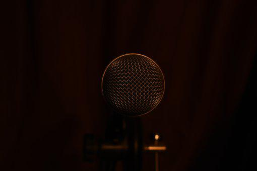 Microphone, Darkness, Sound