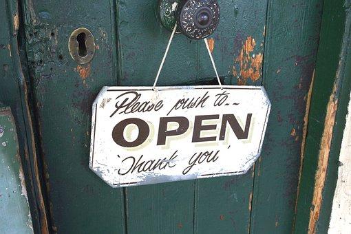 Door, Lock, Entrance, Open Door, Shop, Old Door