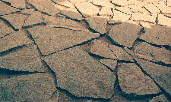 Dry, Drought, Stone, Clay, Desert, Geology, Crack